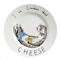 Тарелка Люблю сырные крекеры