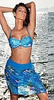 Пляжная юбка-платье 2 в 1, на резинке Amarea 17120 42(S) Синий Amarea 17120