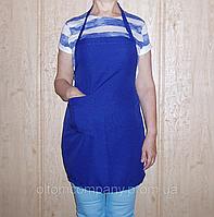 Передник  для повара синий