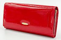Стильный лакированный женский кошелек в красном цвете Helen Verde (Хелен Верде) 2030U