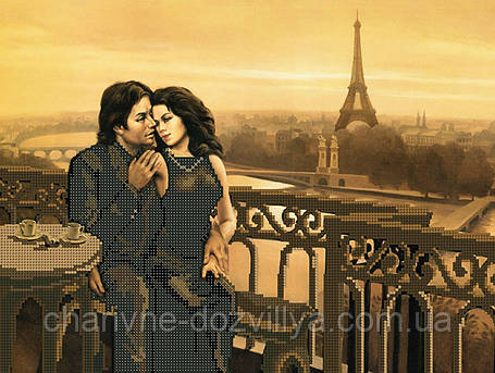 """Схема для вышивки бисером на габардине """"Романтика Парижа"""", фото 2"""