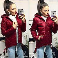 Куртка-парка женская, модель  210, бордо