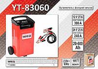 Зарядное устройство с функцией запуска 12/24В., 40-240А.,  YATO YT-83060