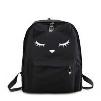 Черный рюкзак с ушками и лапками / женская модная маленькая молодежная сумочка на плечо
