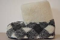 Чуни из натуральной овчины на резиновой подошве