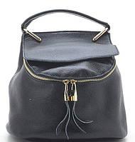 Клатч-рюкзак 68798 черный натуральная кожа