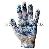 Перчатки Рабочие хб с точкой ПВХ-ФАР-FAR