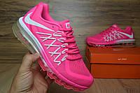 Женские беговые кроссовки Air Max 2015 розовые для бега и фитнеса