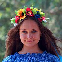 Вінок український з квітами, фото 1