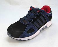Кроссовки Adidas замшевые черно-синие унисекс (р.37,38,39,40,41)