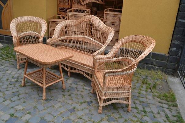 Плетеная мебель своими руками на даче