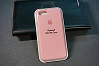 Чехол (накладка) Apple iPhone 7, Original Silicon Case цвет розовый