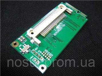 Адаптер Mini PCI-E -> CF (ЛЕВЫЙ, HX-CF090430 Asus EeePC 701, 900...)