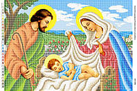 """Схема для полной зашивки бисером 41х58см  """"Иисус в колыбели"""""""