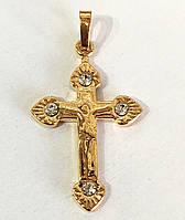 Крест распятие камни, ювелирная бижутерия Xuping