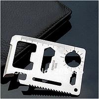 """Многофункциональный инструмент брелок """"11 в 1"""" в чехле размером менее кредитной карты"""