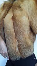 Полушубок болеро из меха лисы с рукавом 3/4, полушубки из меха лисы от производителя, фото 2