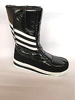 Сапоги дутики женские аляска K&G 33 черные спортивные