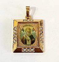 Ладанка св.Михаил прямоугольная, ювелирная бижутерия Xuping