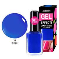 Лак для ногтей Jerden gel effect 9мл №16 indigo, фото 1
