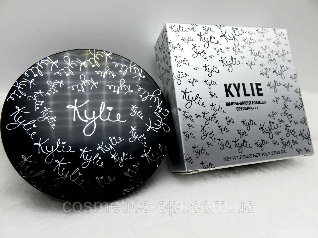 Пудра двойная Kylie Marine-Bright Formula (серебро) (реплика)