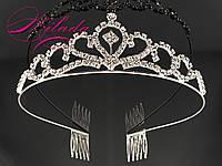 Диадема-корона для свадебной, вечерней прически