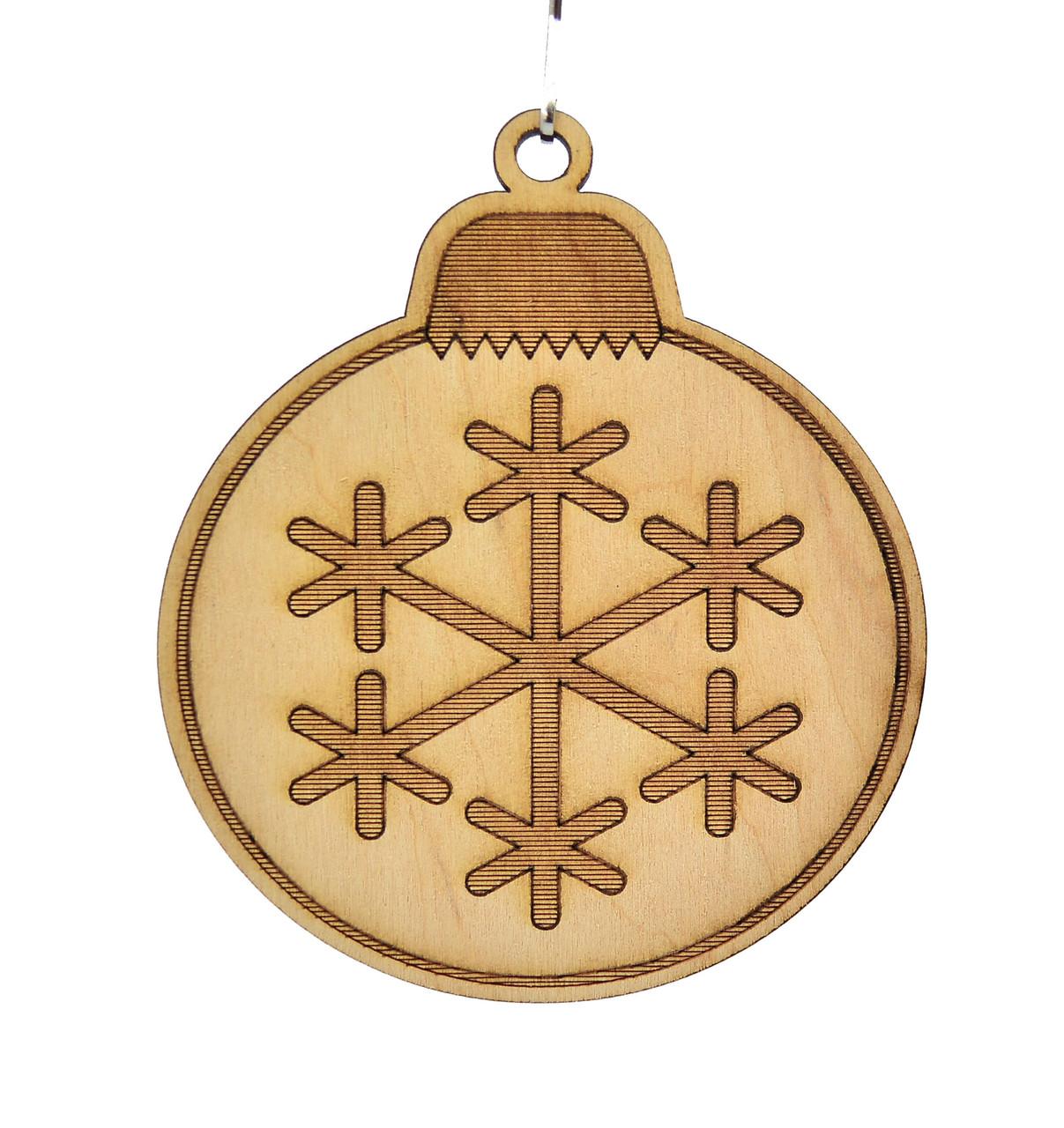 Деревянная новогодняя игрушка заготовка. Игрушка со снежинкой