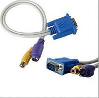 Адаптер переходник VGA - TV S-Video + RCA