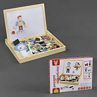"""Деревянная игра С 23122 (36) """"Гардероб"""", магнитная доска, маркер, в коробке"""