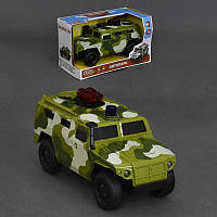 Джип военный 9706 С (36) музыка, звук стрельбы, свет, двери открываются, инерция, на батарейке, в коробке
