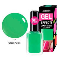 Лак для ногтей Jerden gel effect 9мл  №17 green apple, фото 1