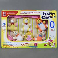 Карусель HL 2081-18 (24/2) на кроватку, мягкие игрушки, музыкальная, заводная, в коробке