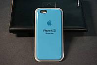 Чехол (накладка) Apple iPhone 6/6s, Original Silicon Case цвет Blue (синий)