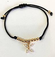 Фенечка браслет бабочка, ювелирная бижутерия XP, длина любая