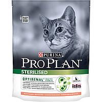 Pro Plan® (Про План). Сухой  корм для взрослых стерилизованных кошек/кастрированных котов, с лососем 0,4кг