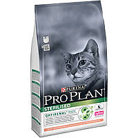 Pro Plan® (Про План). Сухой  корм для взрослых стерилизованных кошек/кастрированных котов, с лососем 1,5кг