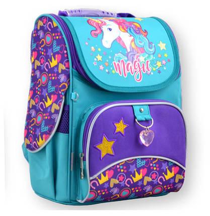Рюкзак каркасный  1 Вересня 555198 H-11 Unicorn, 31*26*14, фото 2