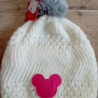 Мягкая вязаная шапочка с помпоном. Размер: 6-8/54 см