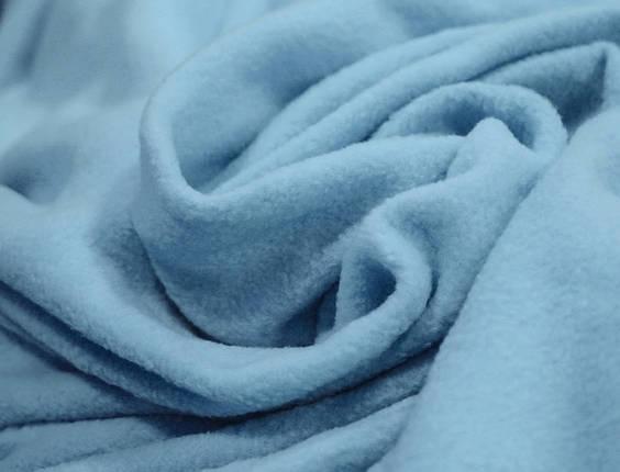 Ткань флис голубой, фото 2