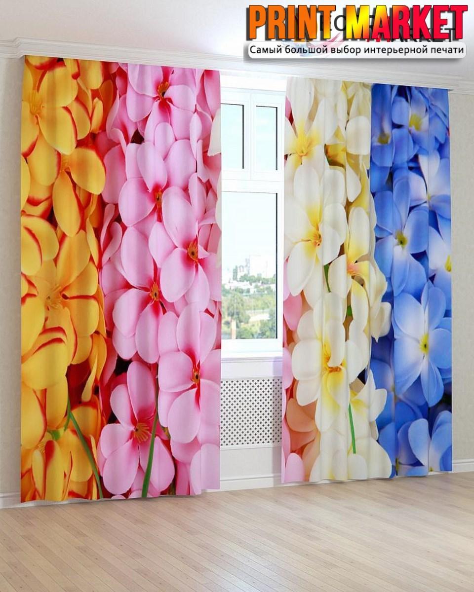 Фотошторы 3д разноцветные цветы