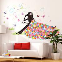 """Интерьерная наклейка на стену для детей """"Летняя прогулка"""""""