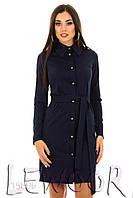 Модное платье-рубашка из трикотажа