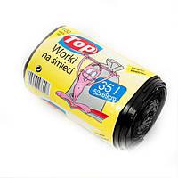 Мешки (пакеты) для мусора полиэтиленовые Top Pack с ручками 35л 100шт/рулон - ящик 25 шт