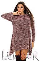 Модное буклированное платье-туника из трикотажа