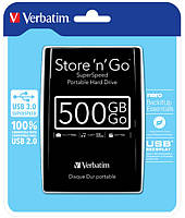 "HDD ext 2.5"" USB  500GB Verbatim Store n Go Black (53029)"