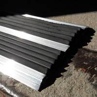 Противоскользящая алюминиевая накладка двойная плоская