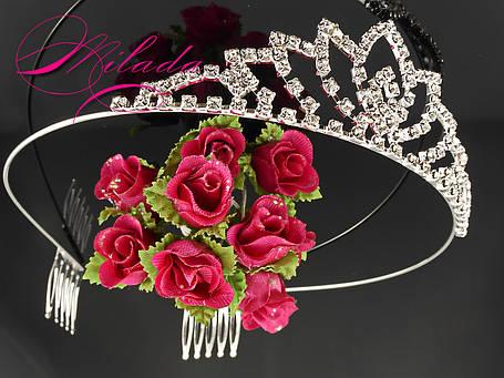 Диадема-корона для свадебной, вечерней прически, фото 2