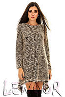 Туника-платье из трикотажа букле с углами
