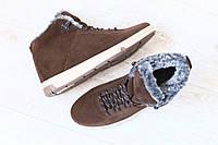 Мужские спортивные зимние ботинки, на меху, замшевые, на шнурках + (2 цвета)