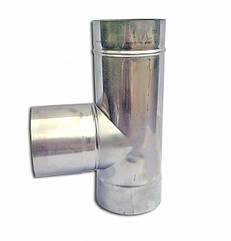 Одностінний Трійник 87° Ø120 мм для димарів з нержавіючої сталі